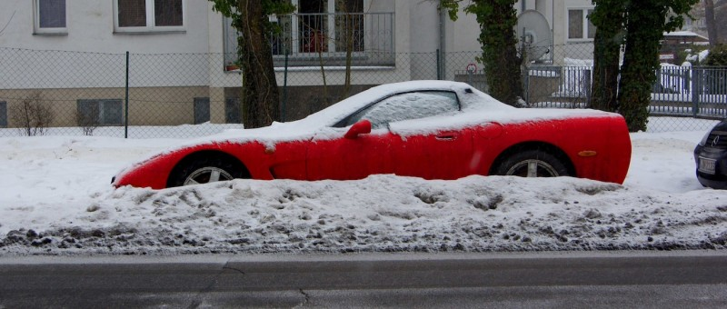 Cabrio im Winter